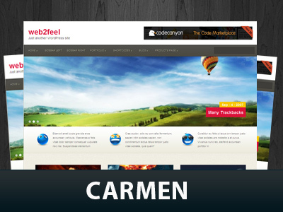 Best WordPress theme Carmen