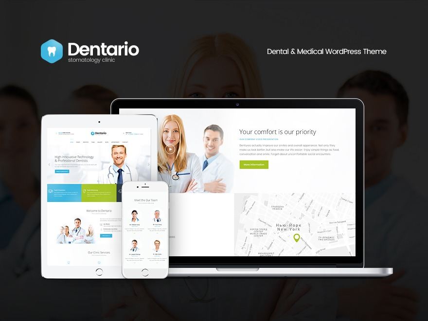 Best WordPress theme Dentario