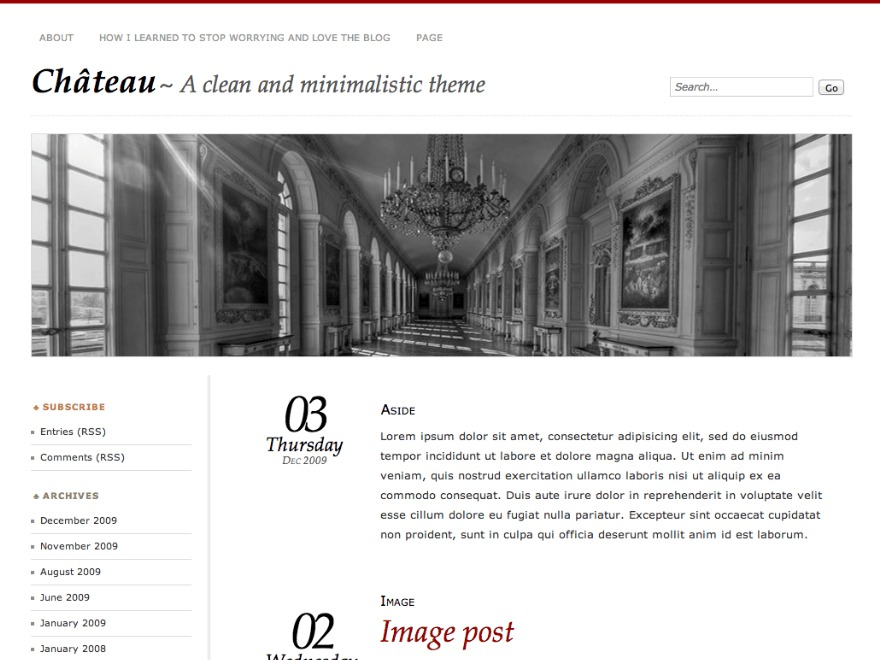 Chateau - WordPress.com best WordPress template