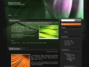 Dark Marble WordPress blog template