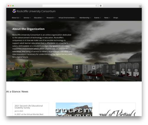 Enlightenment WordPress template - urockcliffe.com