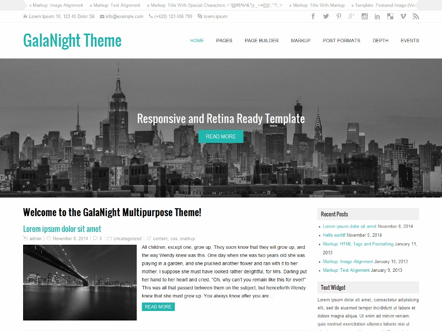 GalaNight Premium best WooCommerce theme
