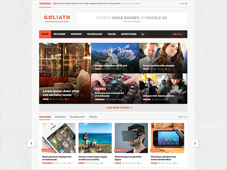 Goliath Child WordPress news template
