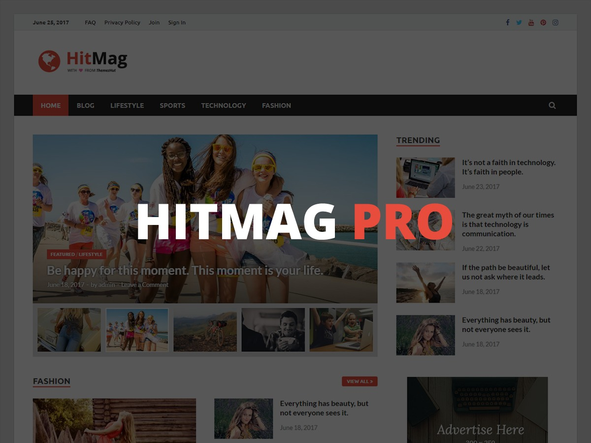 HitMag Pro WordPress news template