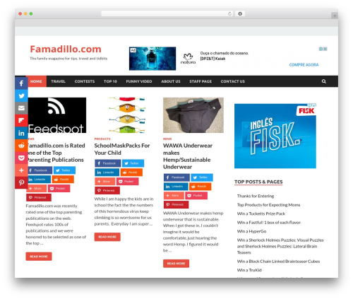 HitMag Pro WordPress website template - famadillo.com