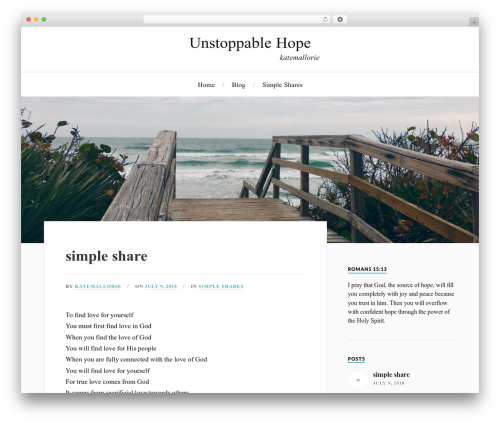 Lovecraft free WP theme - unstoppablehope.com