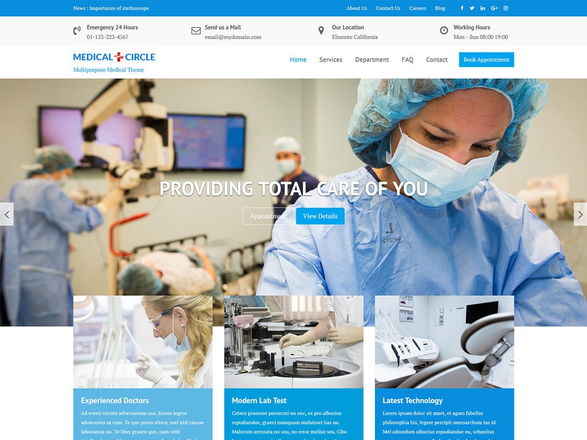 Medical Circle medical WordPress theme