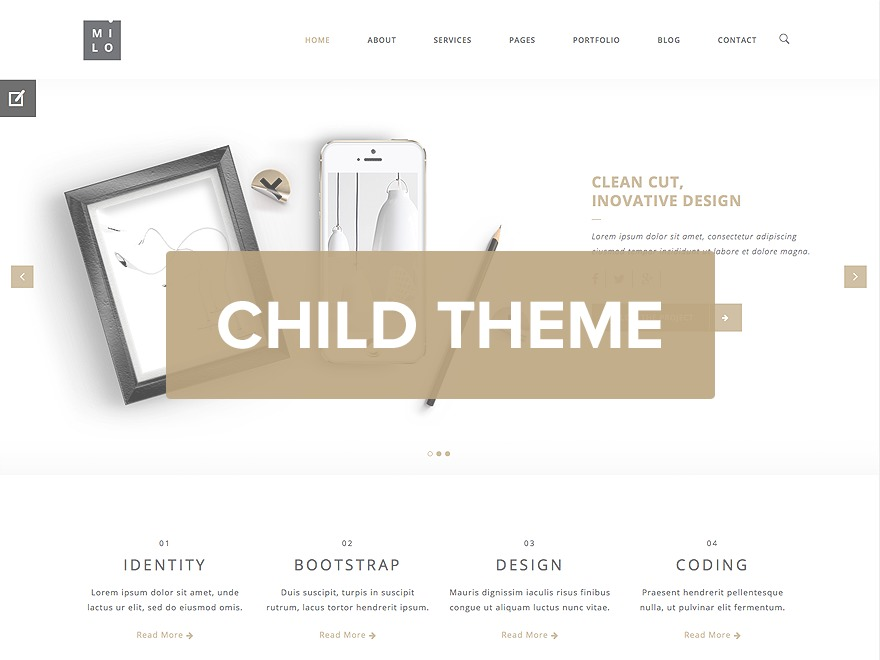 Milo Child template WordPress