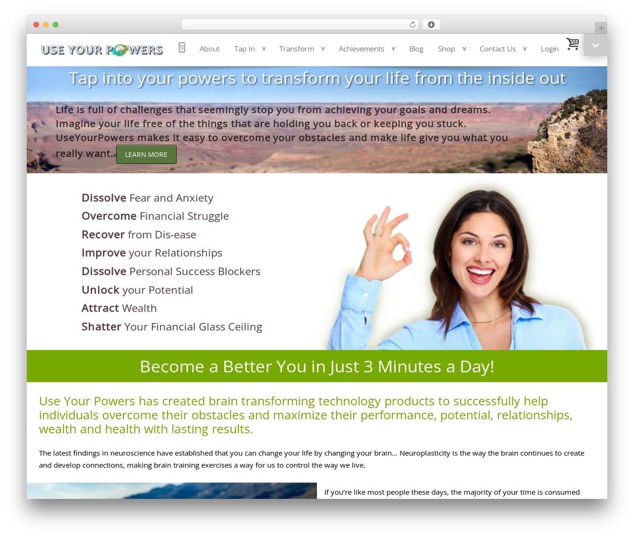 Mustang Lite best WordPress template - useyourpowers.org