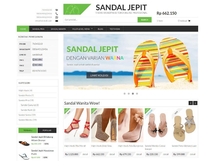 Sandal Jepit best WordPress theme