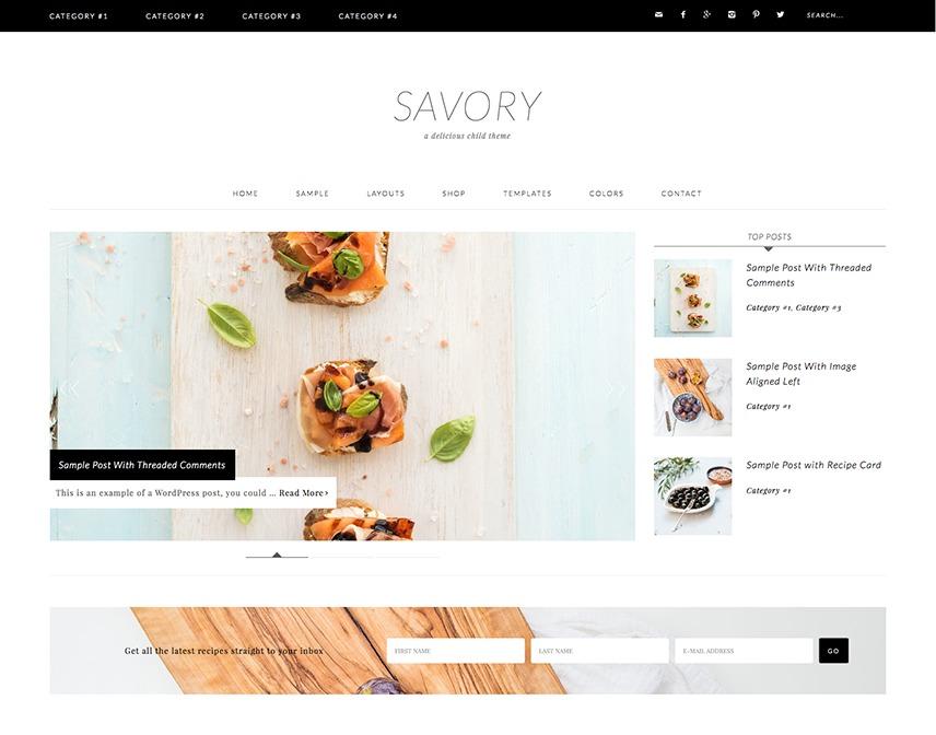 Savory Theme WordPress store theme