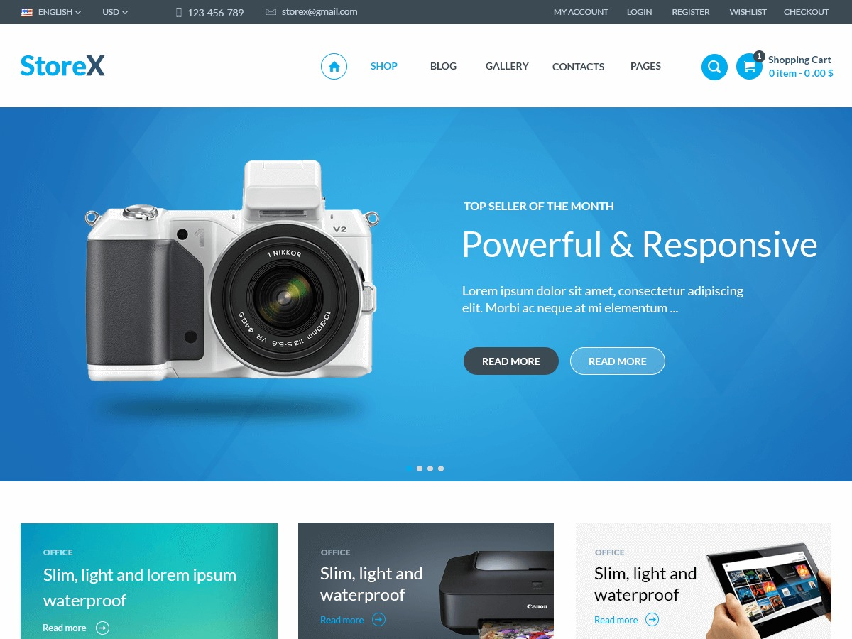 StoreX WordPress ecommerce theme