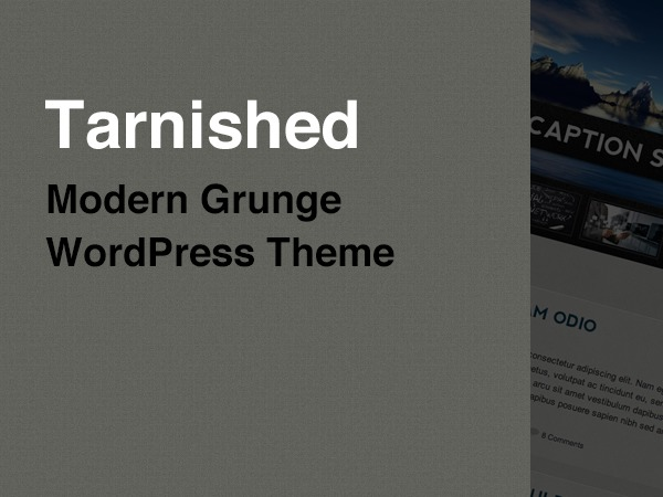 Tarnished WordPress template