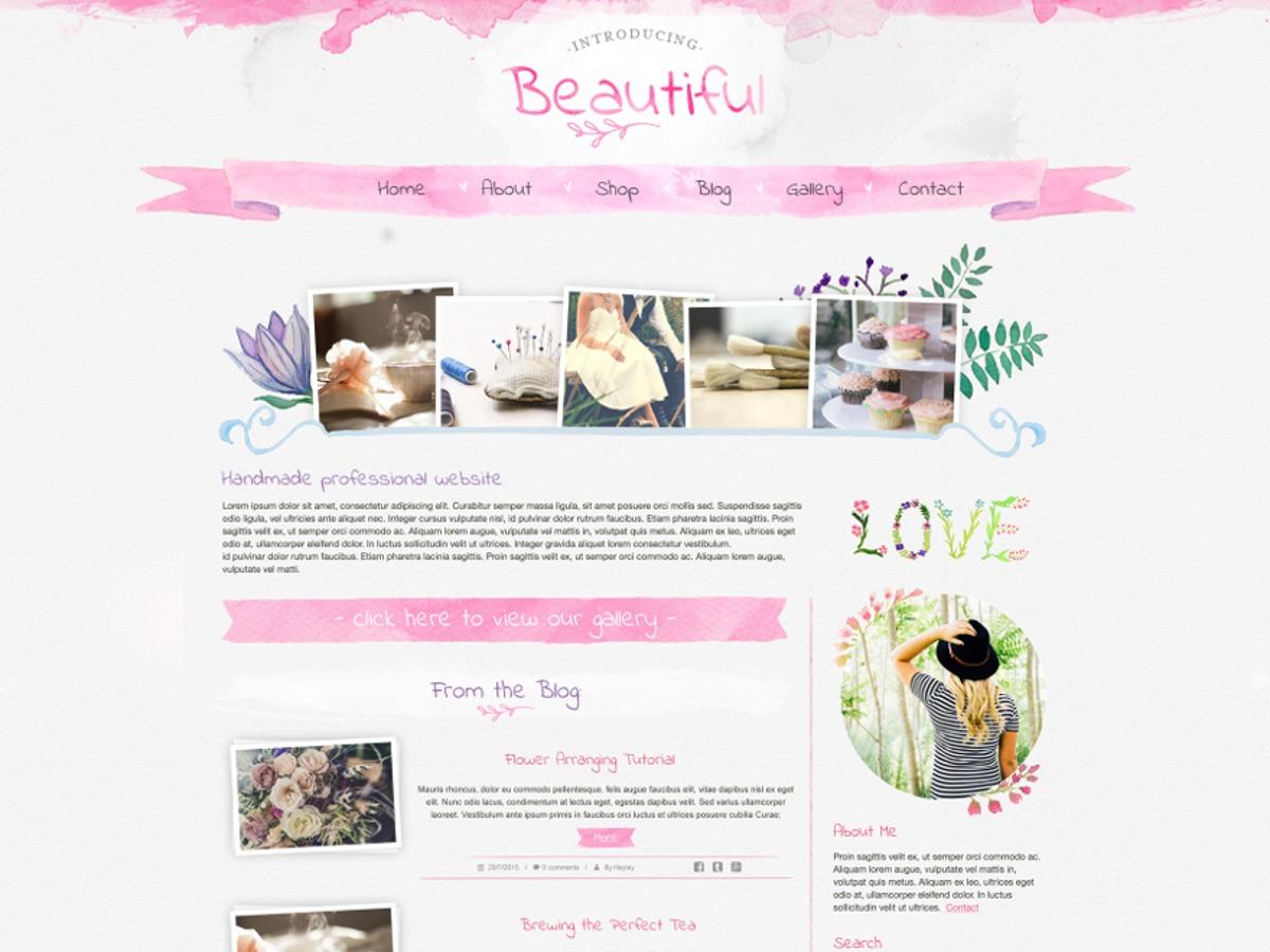 Theme WordPress Beautiful Watercolor
