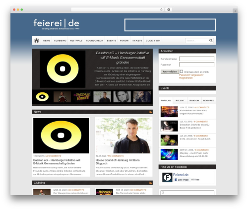 Theme WordPress Magazine - feierei.de