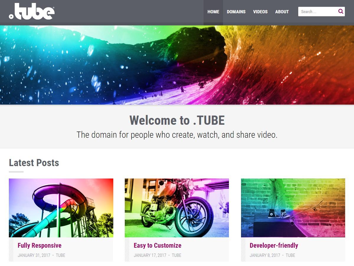 TUBE photography WordPress theme