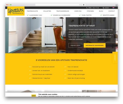upstairs premium WordPress theme - upstairs.com/nl-NL
