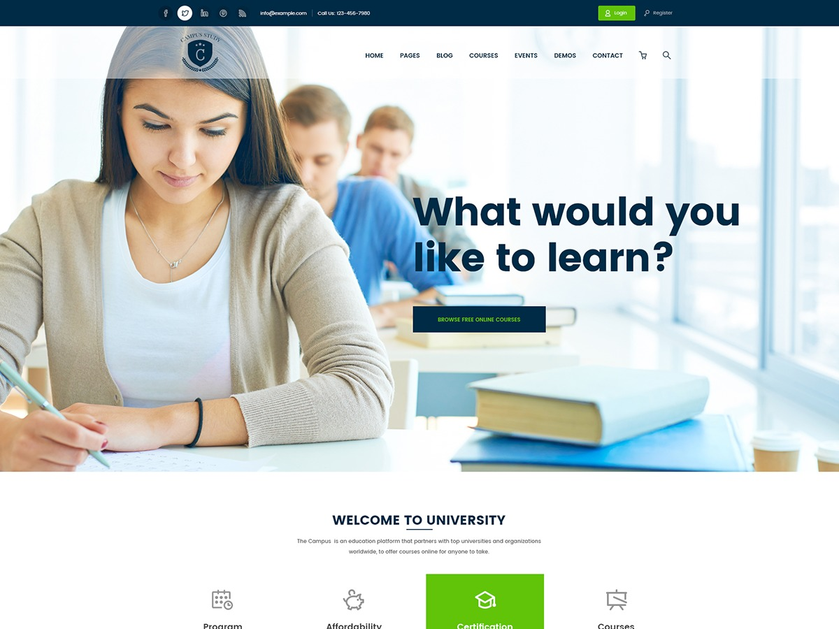 WordPress theme Campress