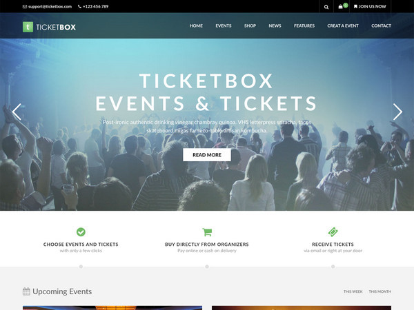 WordPress theme ticketbox