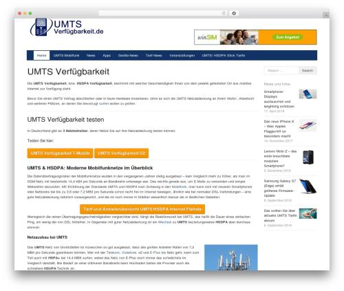 WordPress theme Xing - umtsverfuegbarkeit.de