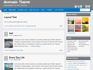 WordPress website template Admired