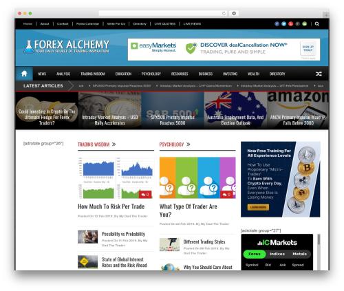 World Wide newspaper WordPress theme - forexalchemy.com