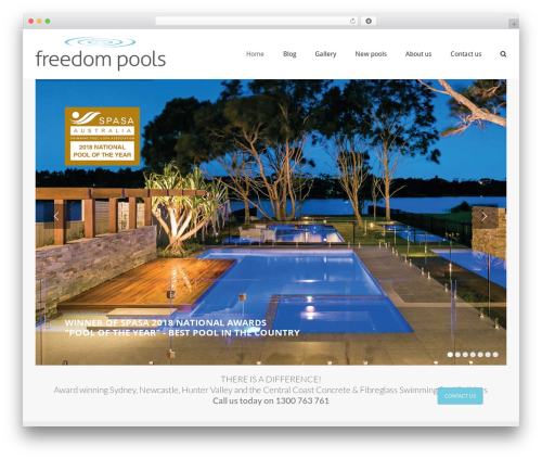 WP theme Avada - freedompools.com.au