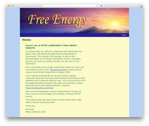WP theme Custom Theme - free-energy.ws