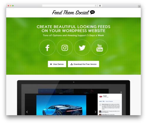 WordPress feed-them-carousel-premium plugin - feedthemsocial.com