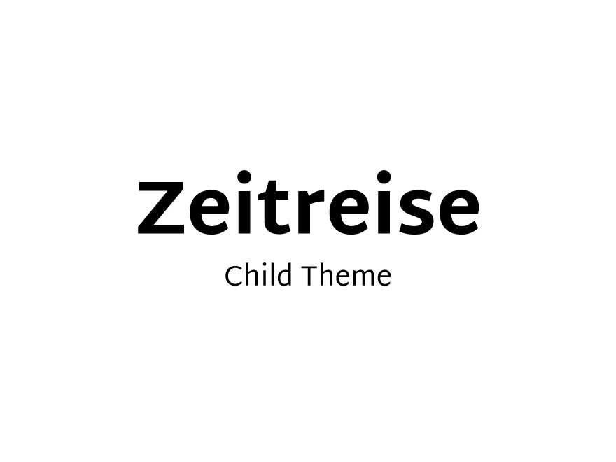 Zeitreise Child WordPress website template