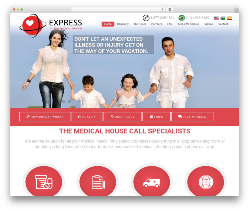 Florida medical WordPress theme - expressgms.com