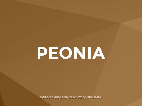 Peonia WordPress blog template