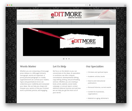 WordPress theme Theme - editmore.net