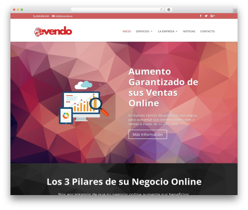 WP template Divi - evendo.es