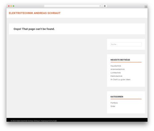 AccessPress Parallax free WP theme - elektro-schraut.de
