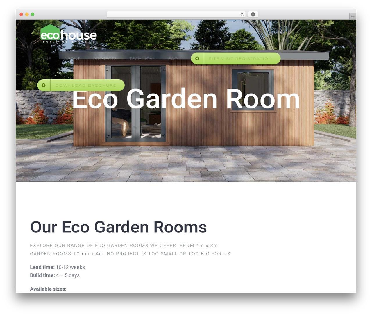 Avada WordPress theme - ecohouse.ie