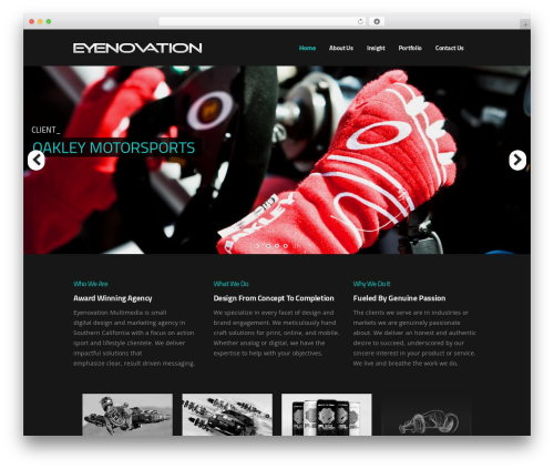 Best WordPress theme Pitch - eyenovation.com