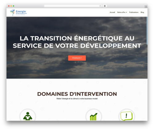 OnePirate free WordPress theme - energie-developpement.com