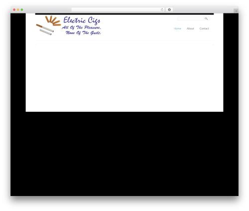 Template WordPress Creation - electriccigs.net