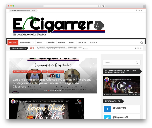 Top News best WordPress magazine theme - elcigarrerodigital.es