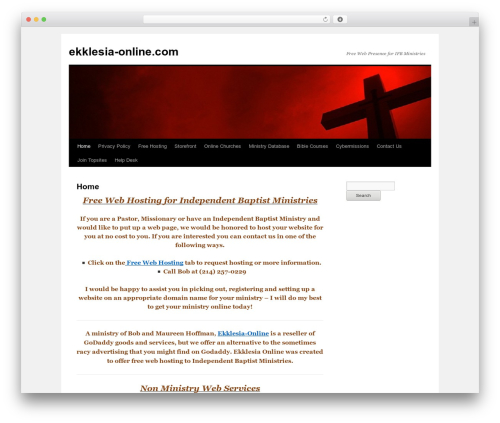 Free WordPress Meta Widget Customizer plugin - ekklesia-online.com