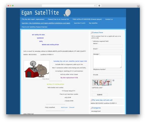 Free WordPress SEO Tools plugin - egansatellite.ie