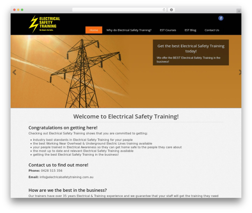 WordPress template Swatch - electricalsafetytraining.com.au