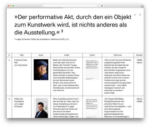 WP theme The HTML5 Reset Theme - edition-uhlenhorst.de