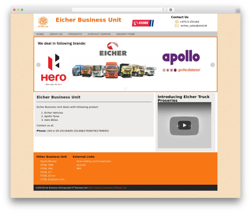 Business Theme for State Trading Corporation of Bhutan business WordPress theme - eicher.stcb.bt