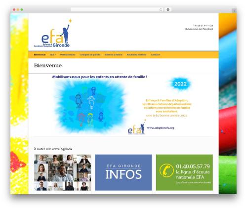 Pinpoint WordPress template - efa33.fr