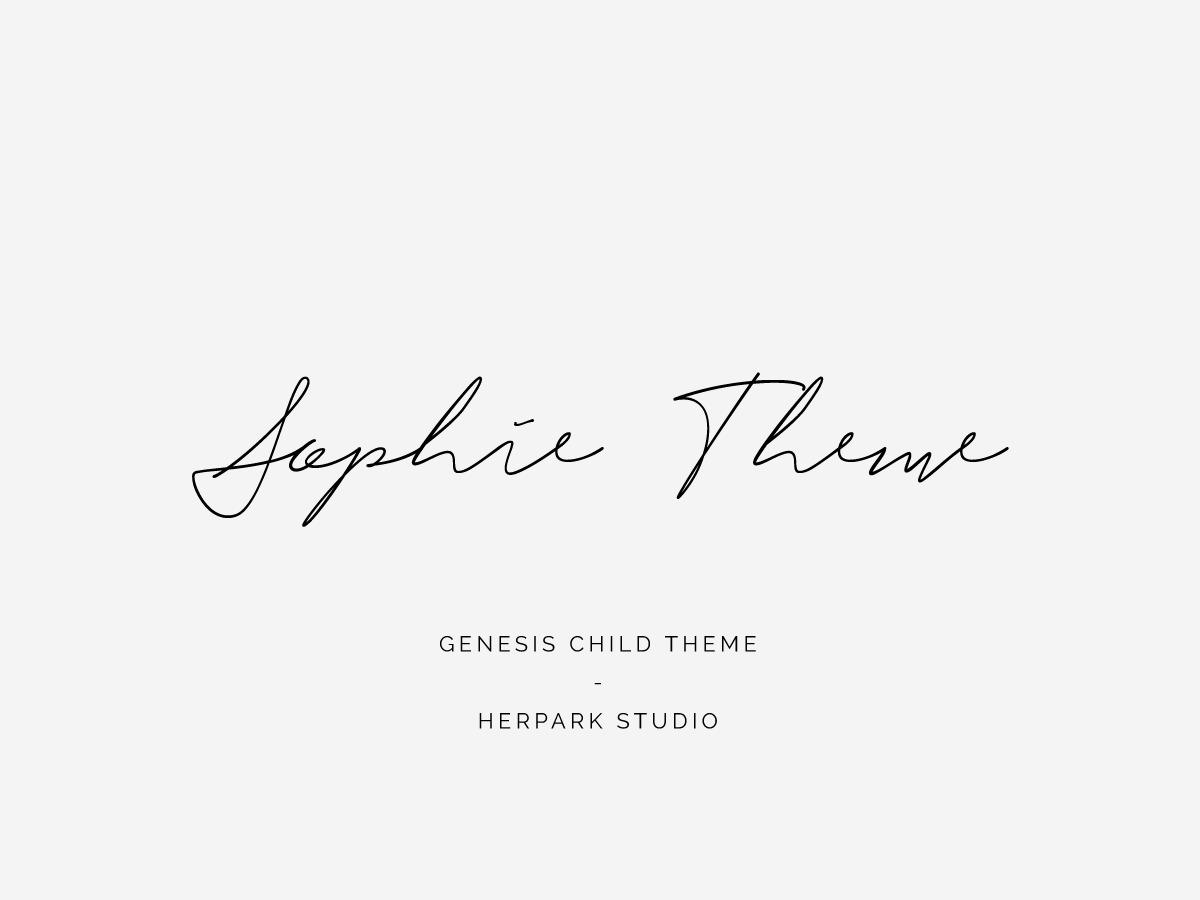 Sophie WordPress theme