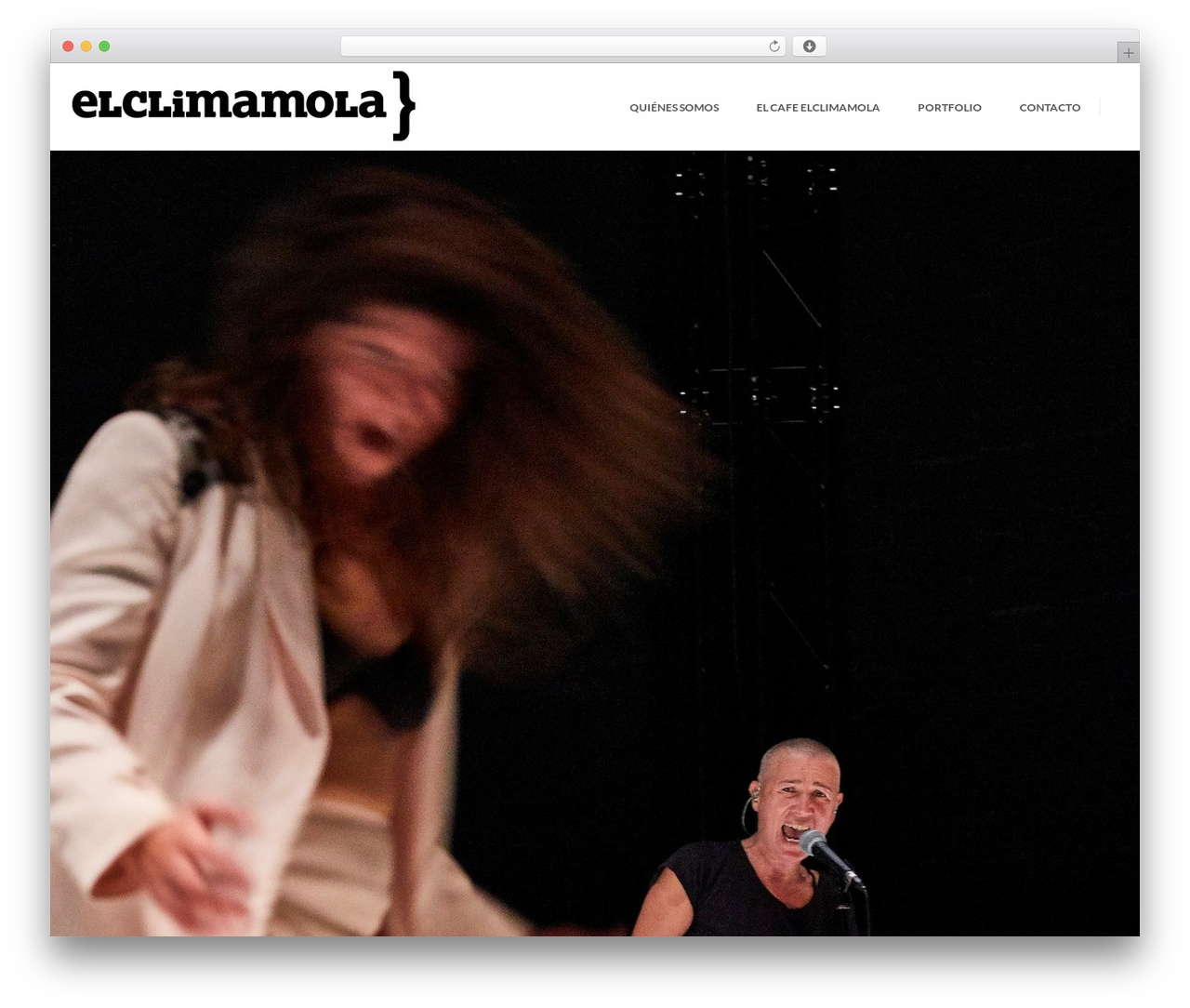 The Ocean WordPress template - elclimamola.com