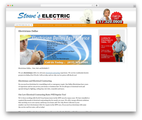Thesis WP theme - electriciansdallastx.com