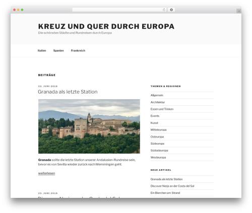 Twenty Seventeen free WordPress theme - europa.cityjumpr.com